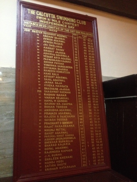 CSC Swim A Mile Honours Board